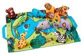 Melissa & Doug Take-Along Folding Wild Safari Play Mat (19.25 x 14.5 inches) With 9 Animals