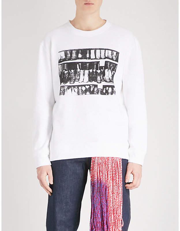 Calvin Klein Andy Warhol-print cotton-jersey sweatshirt