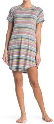 Kensie Striped Short Sleeve Nightshirt
