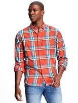 Old Navy Slim-Fit Brushed Twill Plaid Shirt for Men