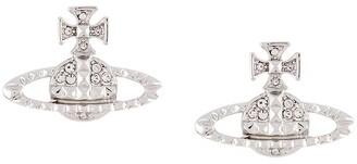 Vivienne Westwood Rhinestone-Embellished Logo Earrings