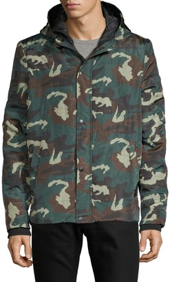 Sovereign Code Camouflage Hooded Full-Zip Jacket