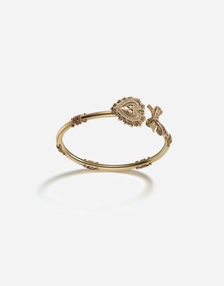 Dolce & Gabbana Devotion Bracelet In Yellow Gold With Diamonds