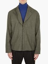 Haider Ackermann Green Ladouce Wool Shirt