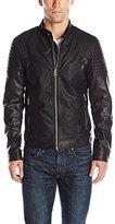 GUESS Men's Abram Moto Jacket