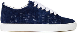 Lanvin Perforated Suede Sneakers