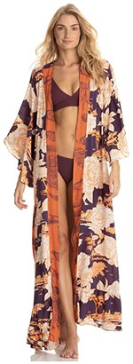 Maaji Stage of Dreams Kimono Cover-Up (Brown) Women's Swimwear