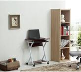 Hodedah Import Wood Top Laptop Desk in Mahogany