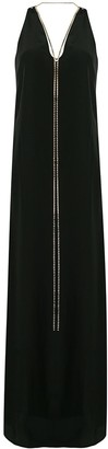Erika Cavallini Rhinestone Necklace Maxi Dress