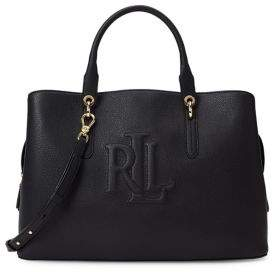 Lauren Ralph Lauren Large Pebbled Leather Hayward Satchel