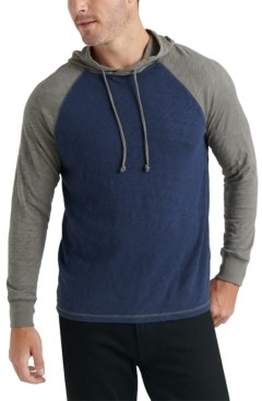 Lucky Brand Men's Textured Colorblocked Hoodie