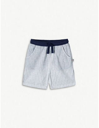 The Little White Company Striped cotton and linen-blend shorts 1-6 years