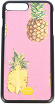 Dolce & Gabbana pineapple print phone case - women - Calf Leather/PVC - One Size