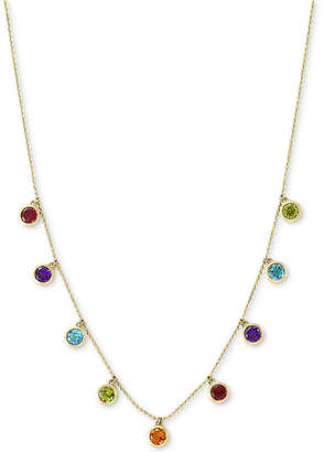"Effy Multi-Gemstone Dangle Statement 18"" Necklace (2-1/10 ct. t.w.) in 14k Gold"