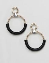 Asos Wrapped Hoop Earrings