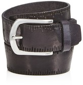 John Varvatos Scored Edge Belt with Harness Buckle