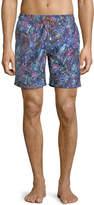 Bugatchi Paisley-Print Swim Shorts
