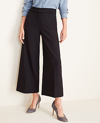 Ann Taylor The Petite Belted Wide Leg Marina Pant