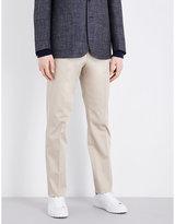Corneliani Tailored-fit Tapered Stretch-cotton Chinos