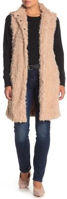 Love Token Faux Fur Longline Vest