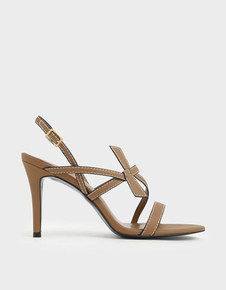 Charles & Keith Front Knot Tie Stiletto Sandals