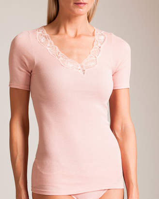 Hanro Lace Delight Short Sleeve Top