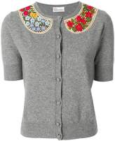 RED Valentino embroidered collar cardigan