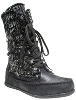 Muk Luks Women's Lilly Lace Up Shearling Boots - Black