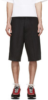DSQUARED2 Black Racing Stripe Shorts