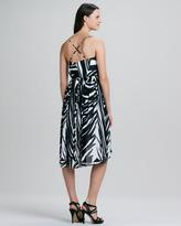 Shoshanna Alicia Spring Striped High-Low Maxi Dress