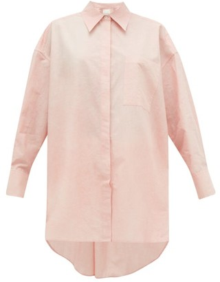 Ssōne Ssone - Oversized Dyed Cotton-poplin Shirt - Light Pink