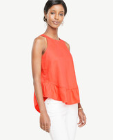 Ann Taylor Ruffle Swing Top