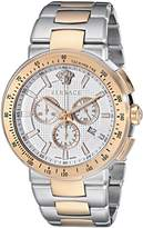 Versace Men's Mystique Sport VFG13 0015 Stainless Steel/Rose Gold Watch