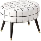 Printed Oval Ottoman - Ink