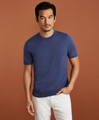 Brooks Brothers Golden Fleece Short-Sleeve Silk Sweater