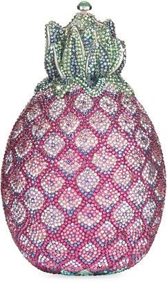 Judith Leiber Couture Hilo Pineapple Crystal Clutch Bag