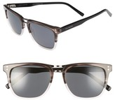 Ted Baker Men's 53Mm Polarized Sunglasses - Silver/ Black/ Tortoise