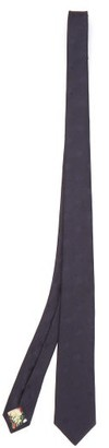 Paul Smith Polka-dot Silk-jacquard Tie - Navy
