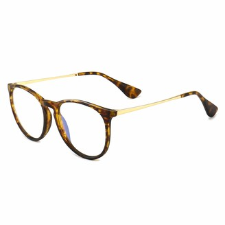 SUNGAIT Womens Retro Blue Light Blocking Glasses Anti Eye Strain Glasses for Reading/Gaming(Tortoise Frame Matte Finish)-SGT567HPKFLG