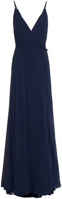 Reformation Callalily Gathered Crepe Wrap Gown