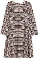 H&M Flared Dress - White/patterned - Ladies