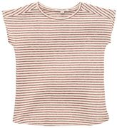 Caramel Baby And Child Knitted Striped Cotton & Linen T-Shirt