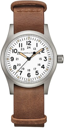 Hamilton Khaki Field Leather Strap Watch, 38mm