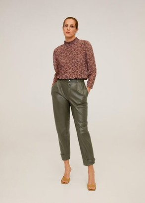 MANGO Dart high waist pants khaki - 2 - Women