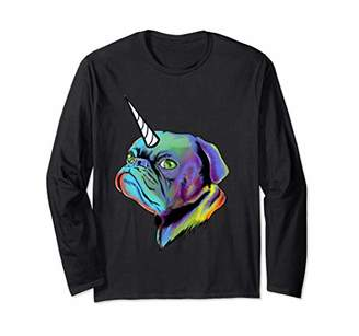 Pugicorn Pug Dog owner funny gift Unicorn Girls Kids Long Sleeve T-Shirt