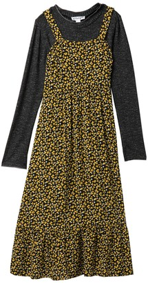 Ten Sixty Sherman Square Neck Maxi Dress & Long Sleeve Top Set (Big Girls)