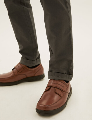 Marks and Spencer Wide Fit Leather Shoes with Airflex