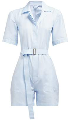 Giuliva Heritage Collection The Sienna Cotton-pique Playsuit - Womens - Blue