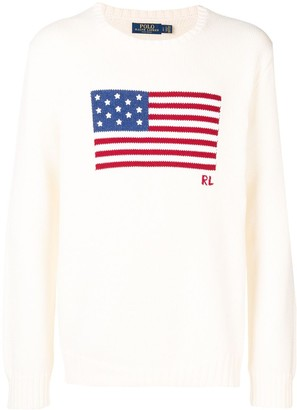 Polo Ralph Lauren flag knitted jumper
