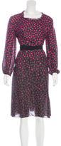 Nina Ricci Silk Polka Dot Dress